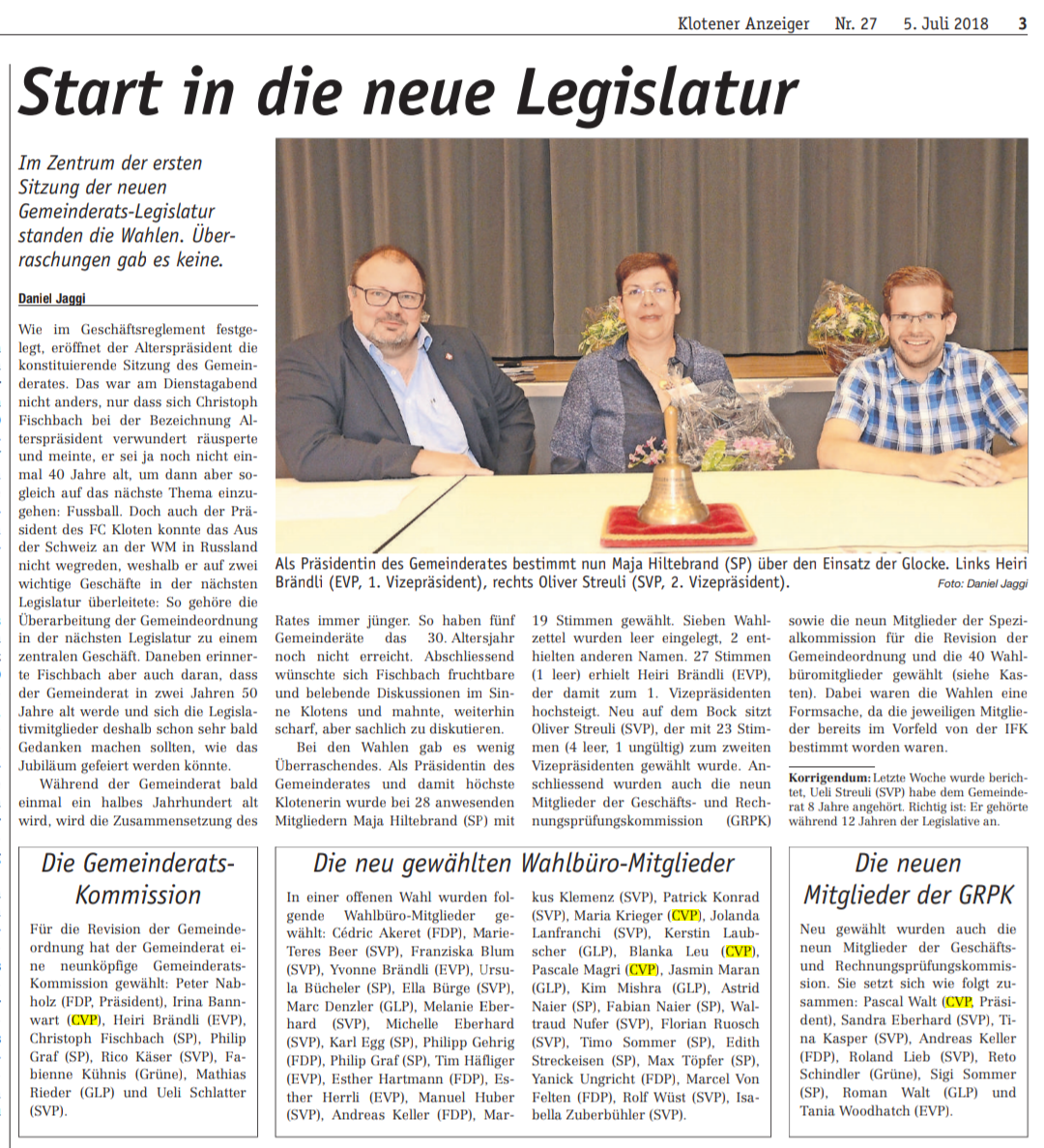 20180703-Start in die neue Legislatur